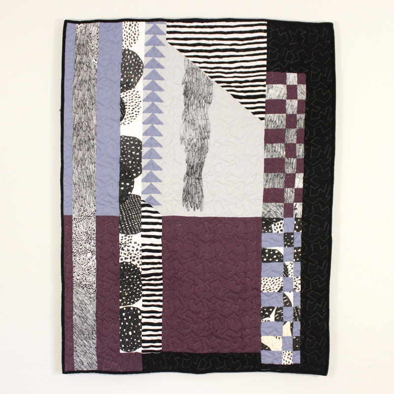 Collaborative Flying Geese quilt with Madison Creech